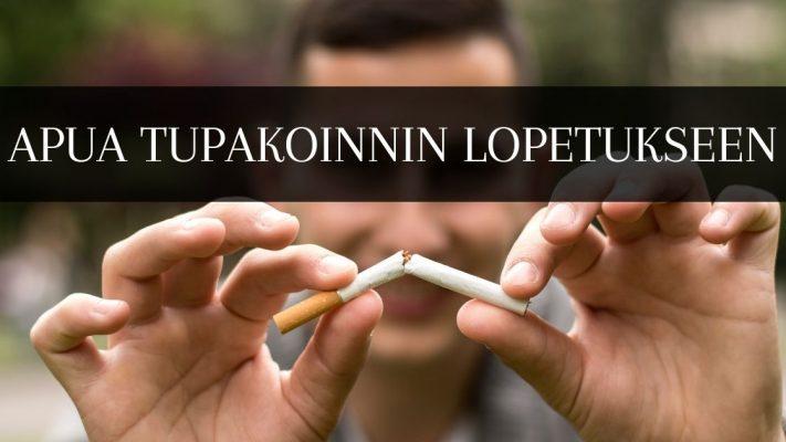 Tupakoinnin lopettamiseen apua