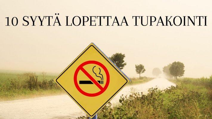 10 Syytä tupakan lopetukseen